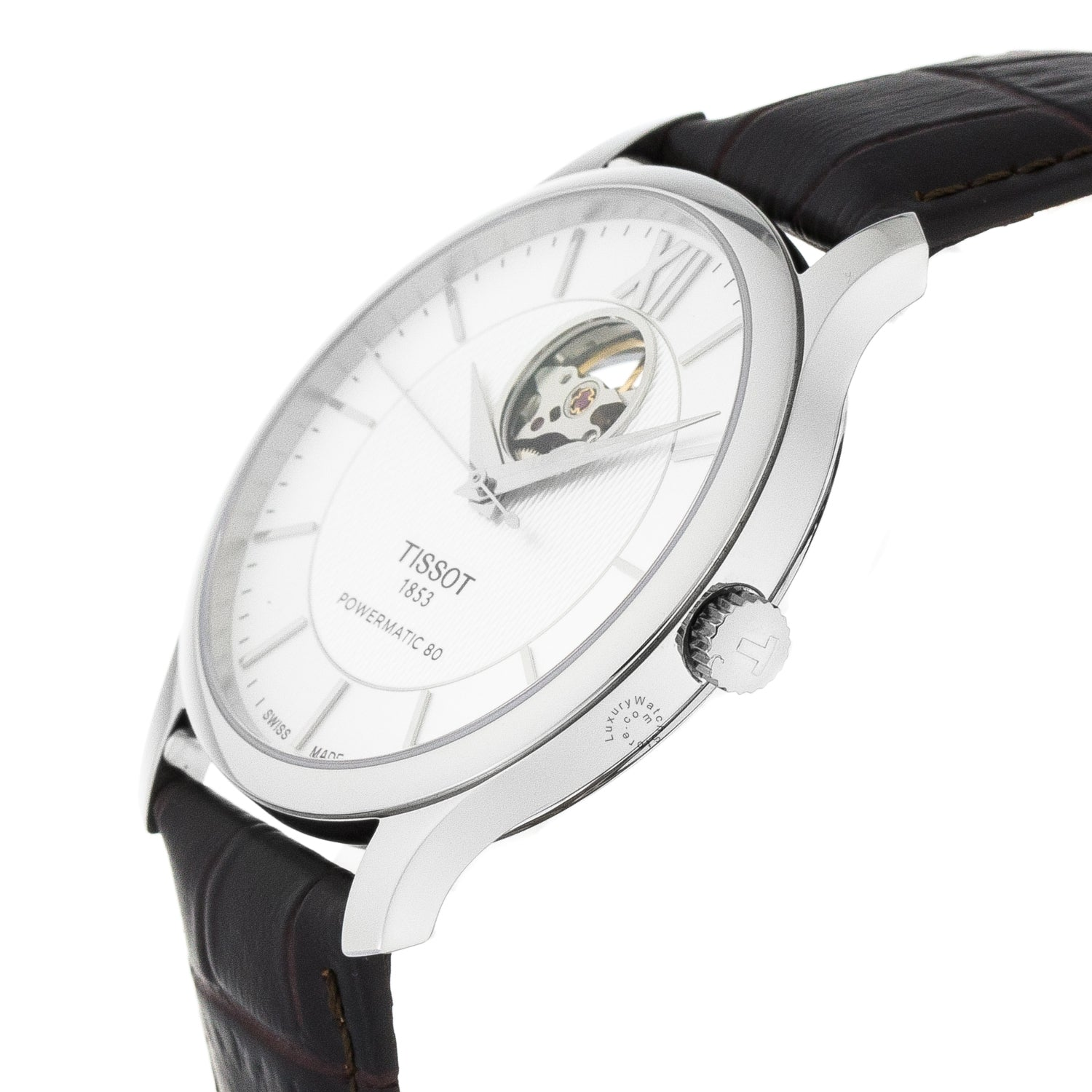 Tissot Tradition Powermatic 80 Open Heart Auto Watch T0639071603800