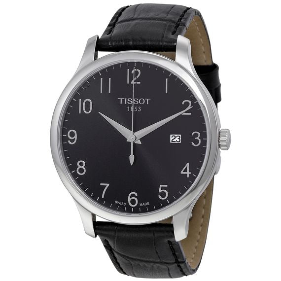 Tissot T-Classic Tradition Date Black Leather Men Watch T0636101605200