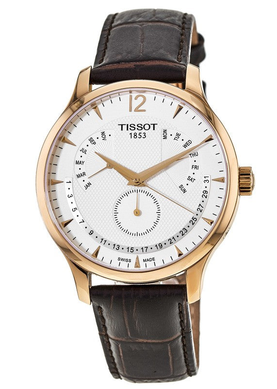 Tissot Tradition Perpetual Calendar Men's Leather Watch T0636373603700