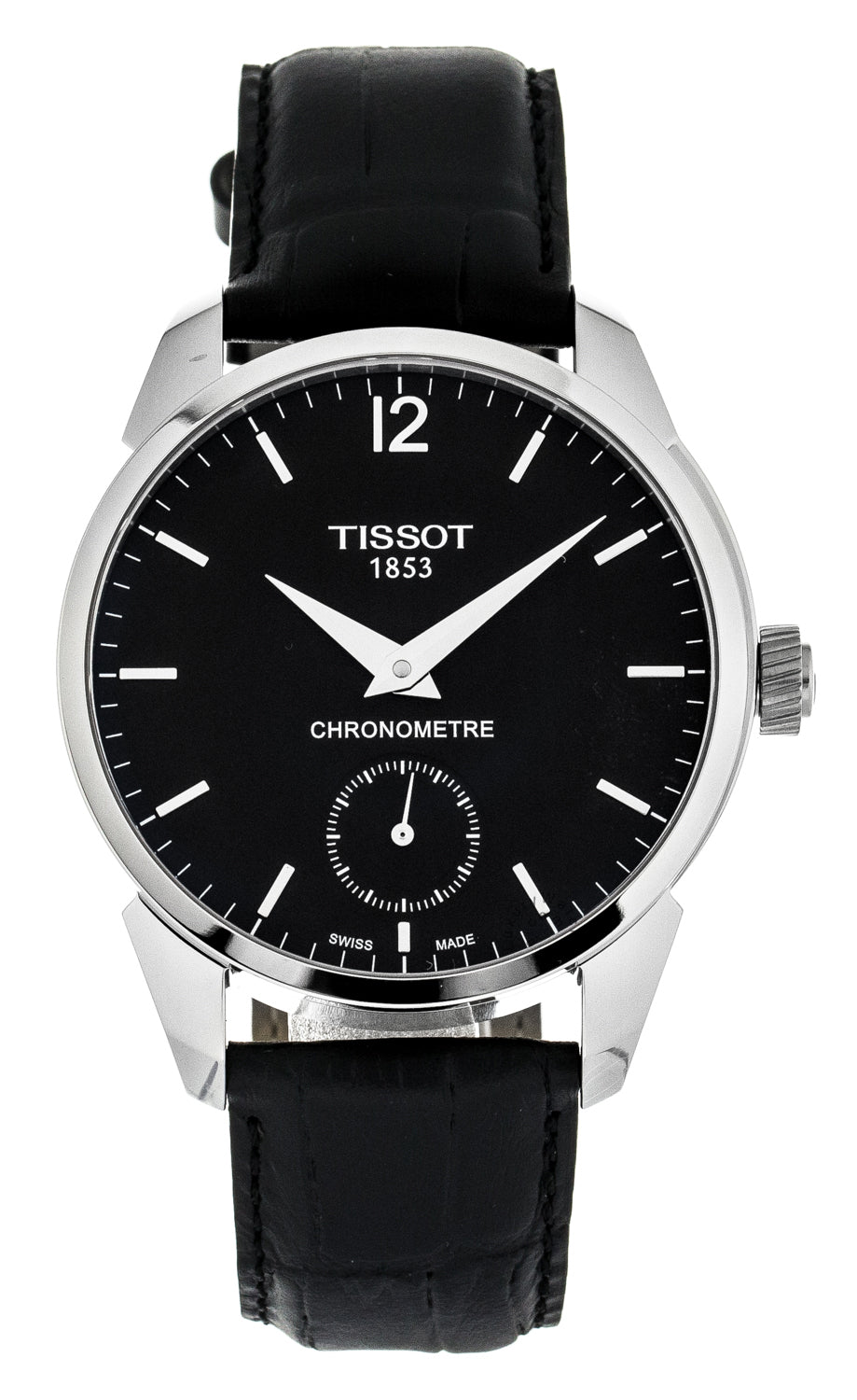 Tissot T Complication Chronomether Leather Men's Watch T0704061605700