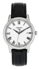 Tissot Carson White Dial Black Leather Men's Watch T0854101601300