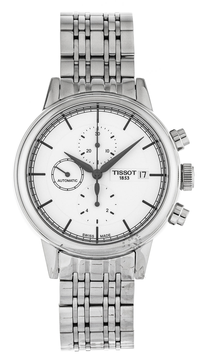 Tissot Carson Chronograph Automatic Silver Men's Watch T0854271101100