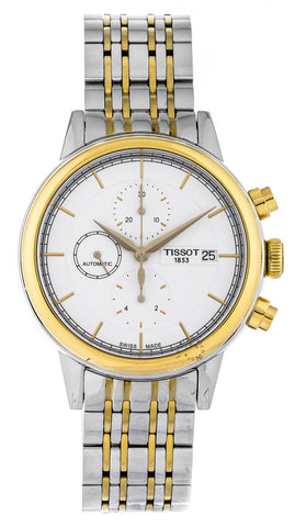 Tissot Carson Chronograph White Dial Auto Steel Watch T0854272201100