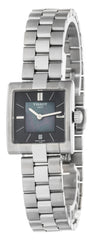 Tissot T02 Black Pearl Dial Quartz Steel Squared Watch T0903101112101
