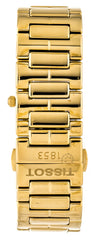 Tissot T02 Square White Pearl Dial Gold PVD Women Watch T0903103311100