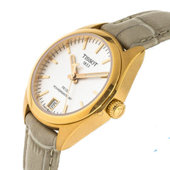 Tissot PR 100 Powermatic 80 Silver Dial Leather Watch T1012073603100