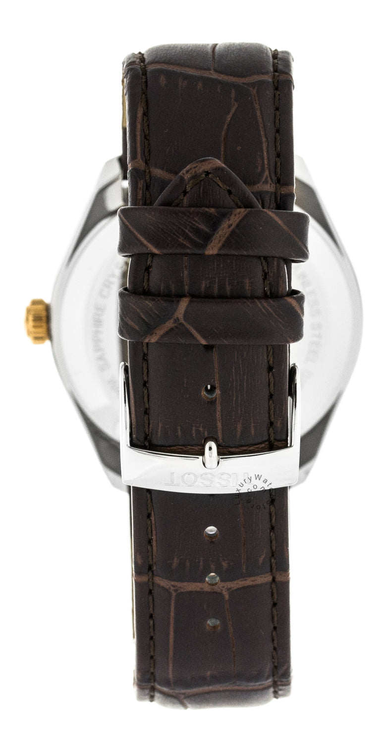 Tissot PR 100 Dual Time T-Classic Leather Men Watch T1014522603100