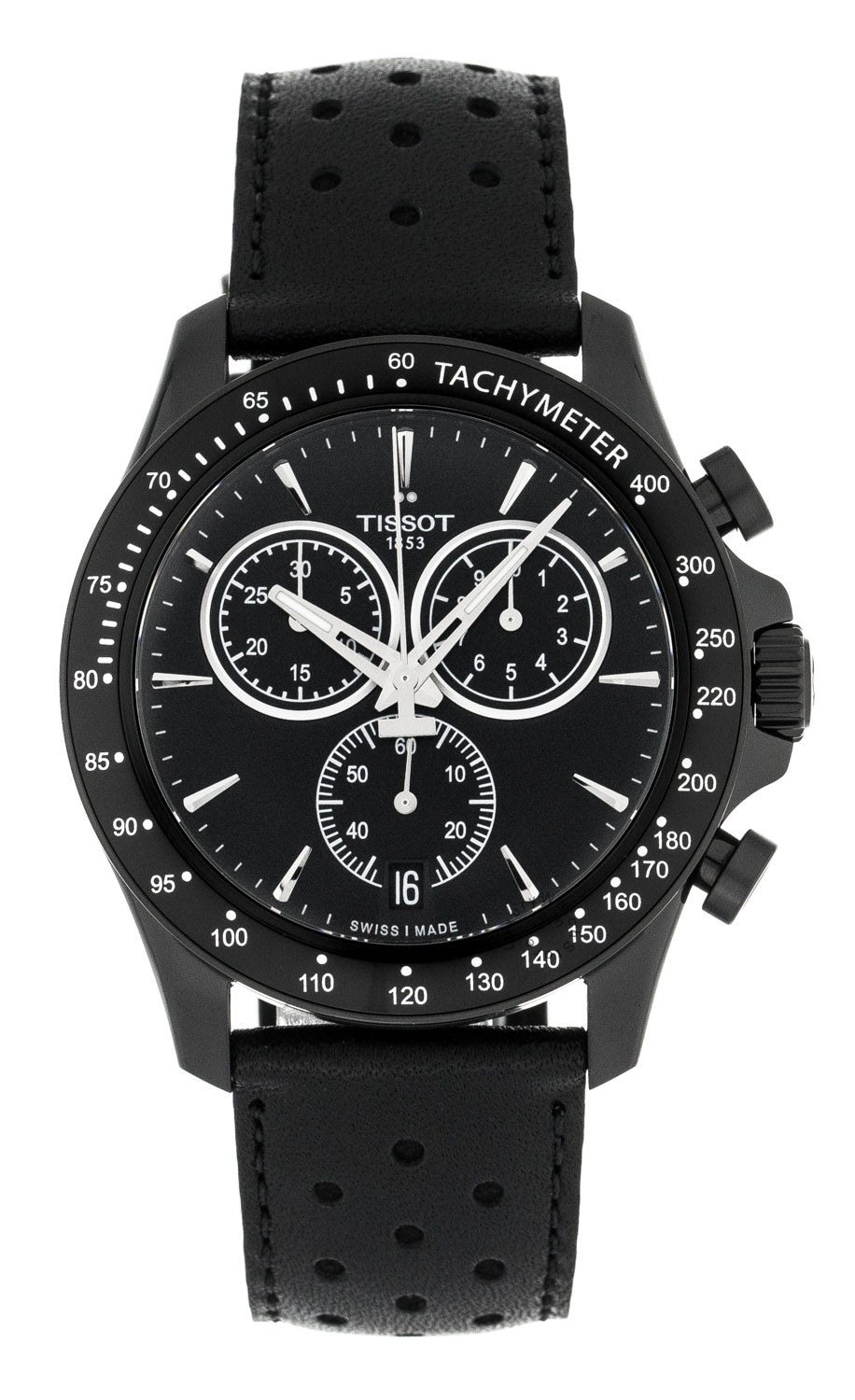 Tissot V8 Chronograph Black Dial Black PVD Men's Watch T1064173605100