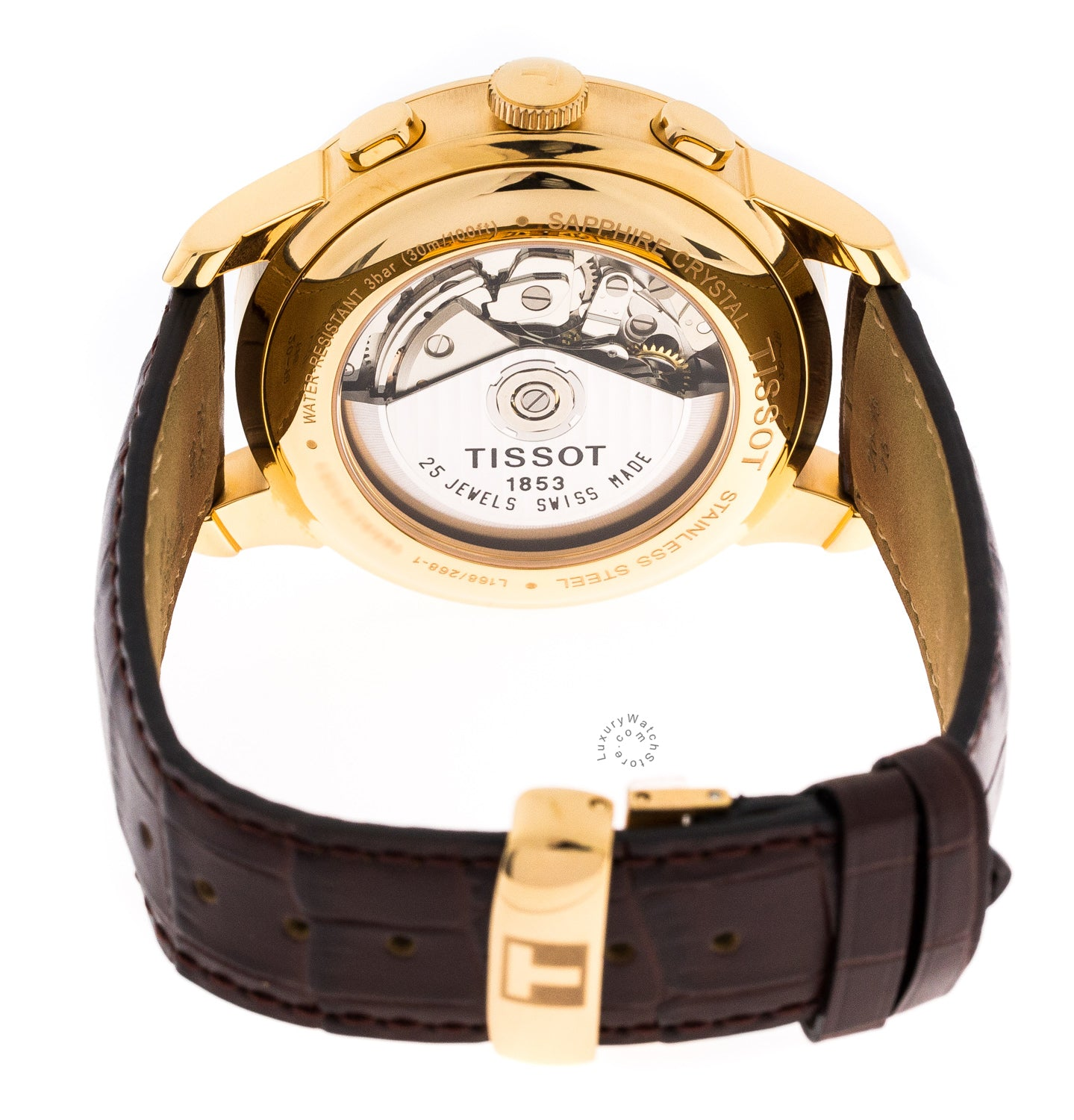 Tissot Le Locle Chronograph Brown Dial Leather RG Men Watch T41531751