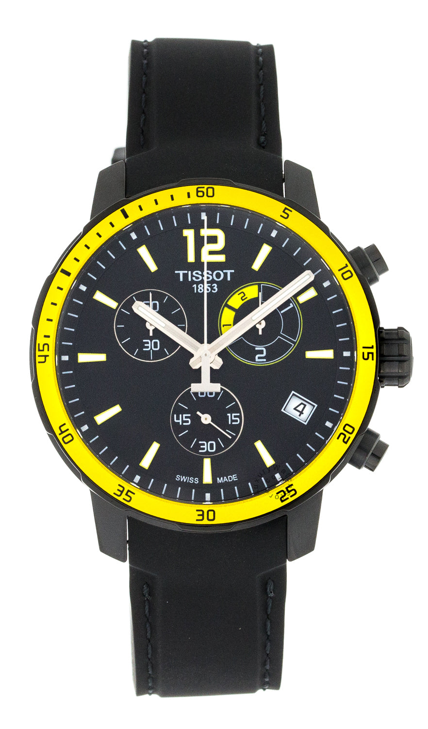 Tissot Quickster Chronograph Black Rubber Men's Watch T0954493705700