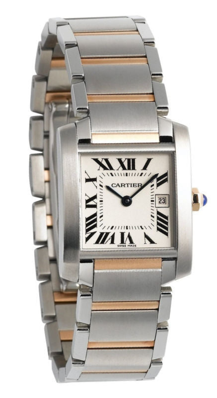 Cartier Tank Française Midsize 18K Gold & Steel Unisex Watch W51012Q4