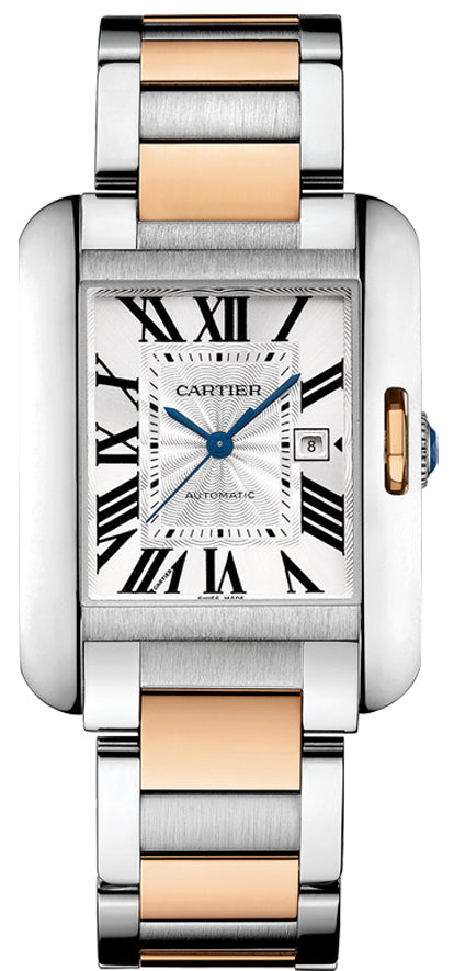 Cartier Tank Anglaise X-Large Auto 18k Gold/Steel Men's Watch W5310006