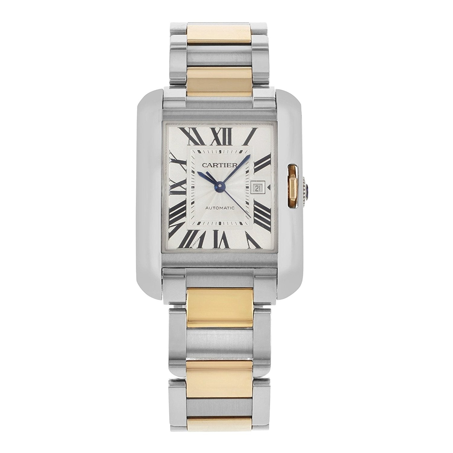 Cartier Tank Anglaise 18k Pink Gold/Steel Women's Watch W5310037