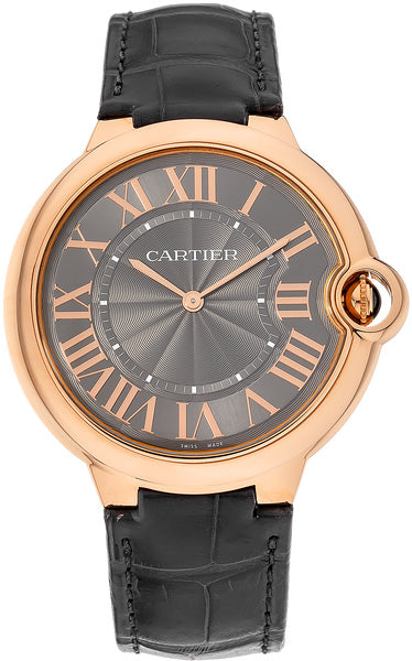 Cartier Ballon Bleu XFlat Gray Dial Leather Auto Men's Watch W6920089