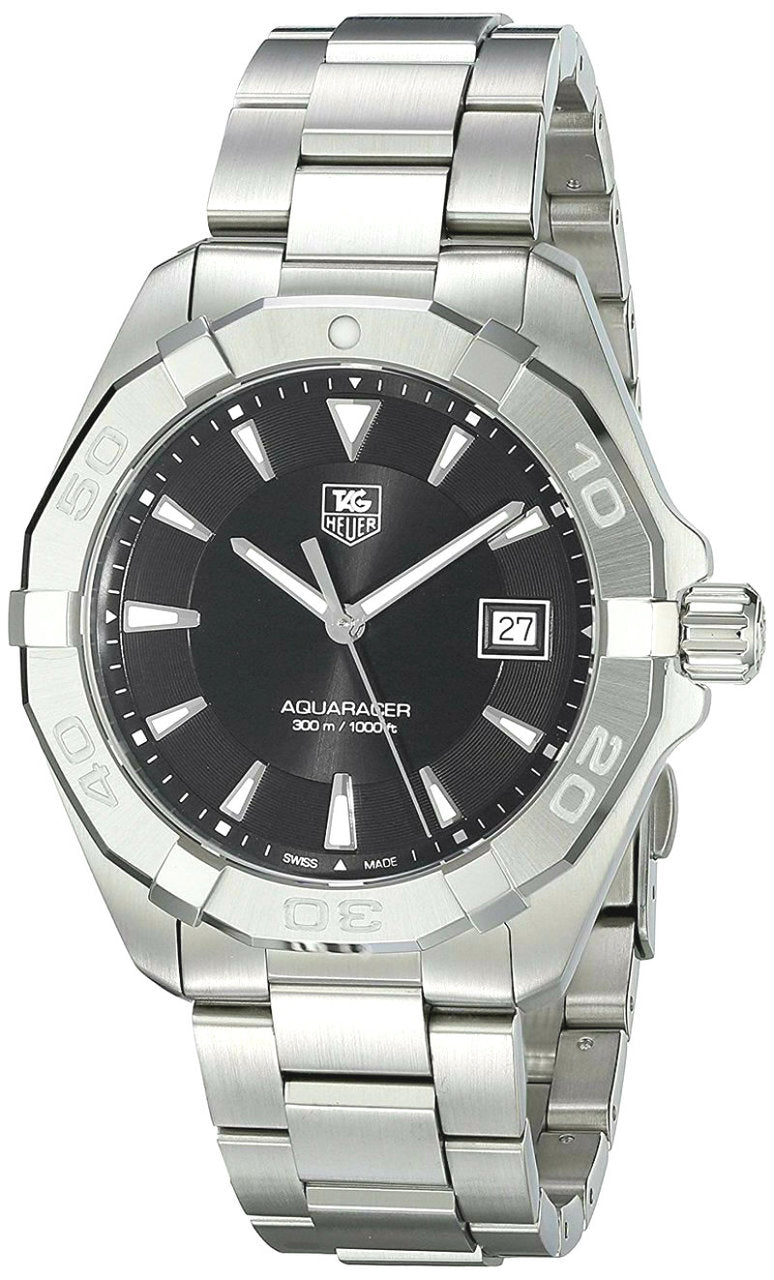 Tag Heuer Aquaracer Black Dial Brushed SS Quartz Watch WAY1110.BA0928