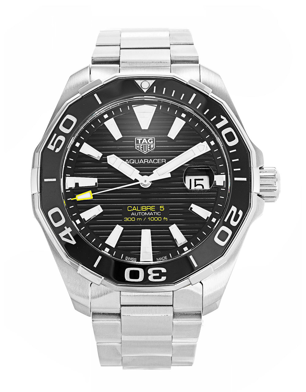 Tag Heuer Aquaracer Calibre 5 Black Dial Auto Men Watch WAY201A.BA0927