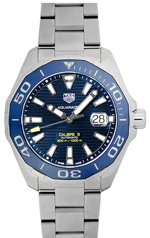 Tag Heuer Aquaracer Calibre 5 Blue Dial Auto Men Watch WAY201B.BA0927