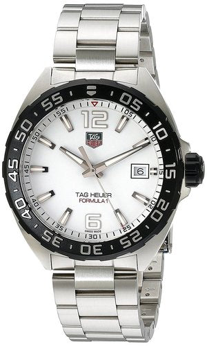 Tag Heuer Formula 1 White Dial Steel Quartz Men Watch WAZ1111.BA0875