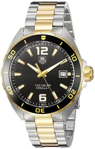Tag Heuer Formula 1 Black Dial Two Tone Steel Men Watch WAZ1121.BB0879
