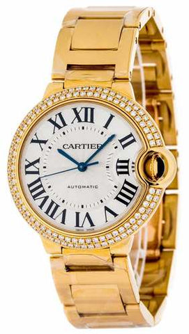 Cartier Ballon Bleu M 18Kt Yellow Gold Automatic Women Watch - WE9004Z3