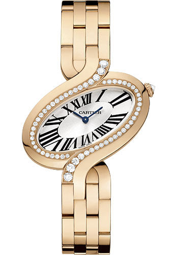Cartier Delices De Diamond 18k Rose Gold Quartz Women's Watch WG800006