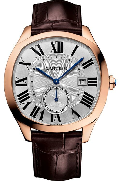 Cartier Drive Silver Dial 18KT Rosegold Automatic Men's Watch WGNM0003