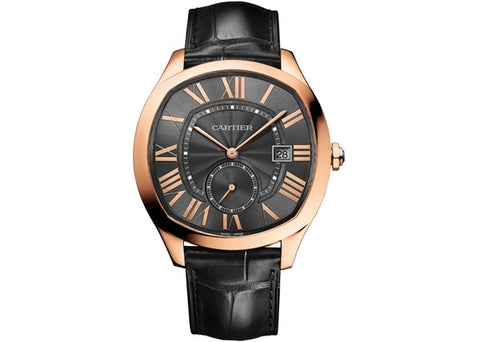 Cartier Drive Gray Dial 18KT Rosegold Automatic Men's Watch WGNM0004