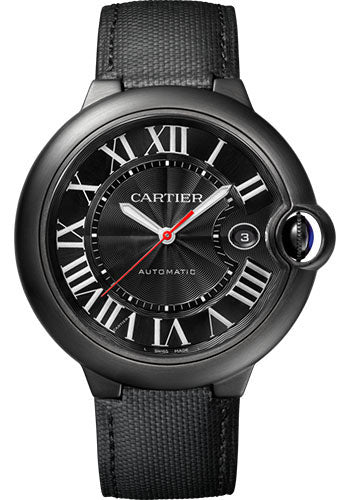 Cartier Ballon Bleu Black Dial Fabric Automatic Men's Watch WSBB0015