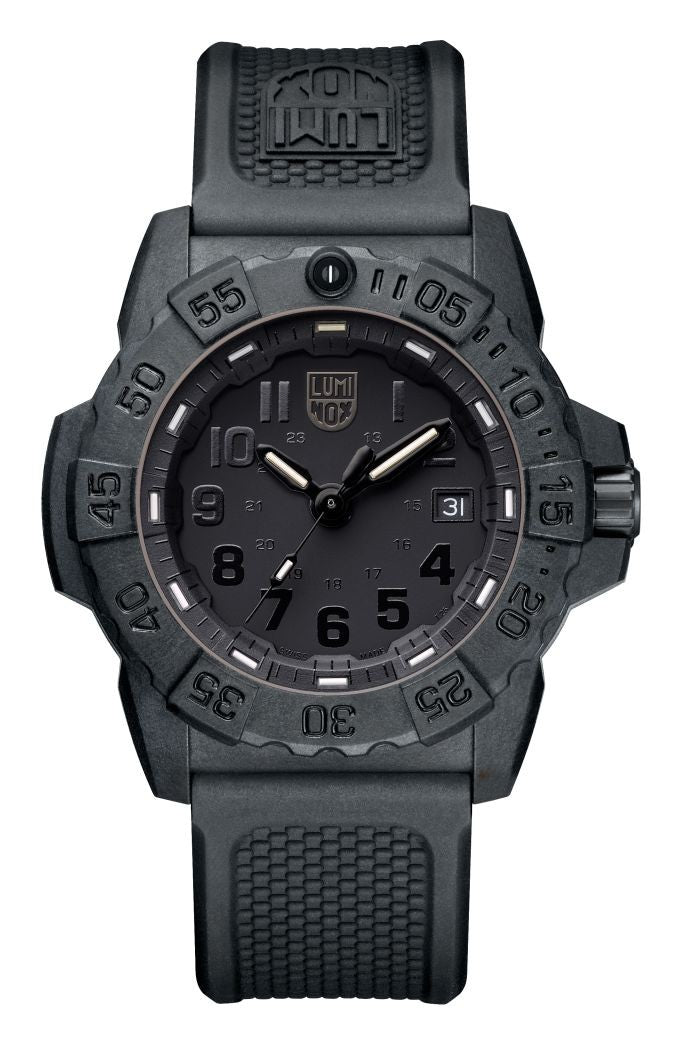 Luminox Navy Seal 3500 Series 45MM Rotating Bezel Men Watch XS.3501.BO