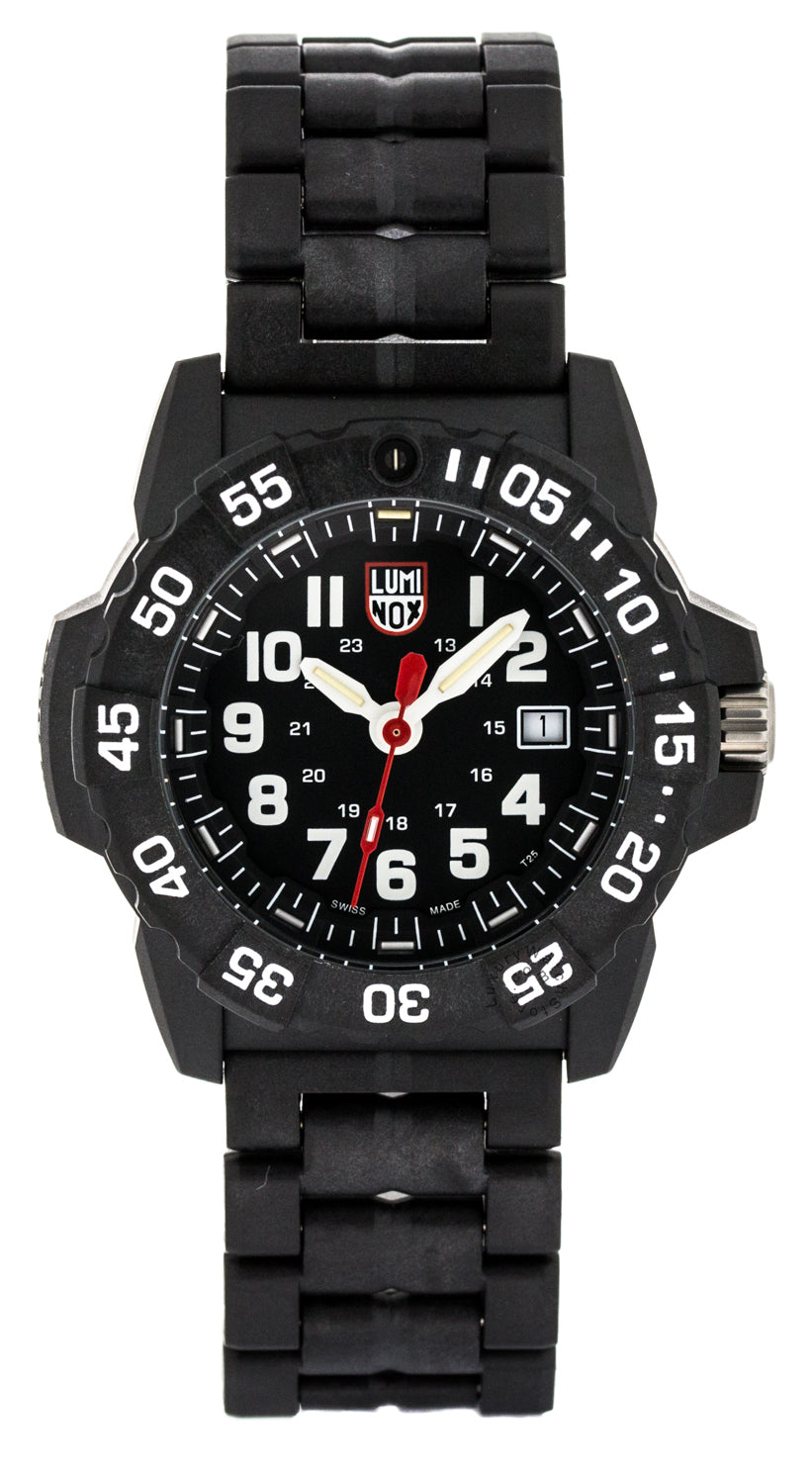 Luminox Navy SEAL 45mm SS Unidirectional Turning Bezel Watch XS.3502
