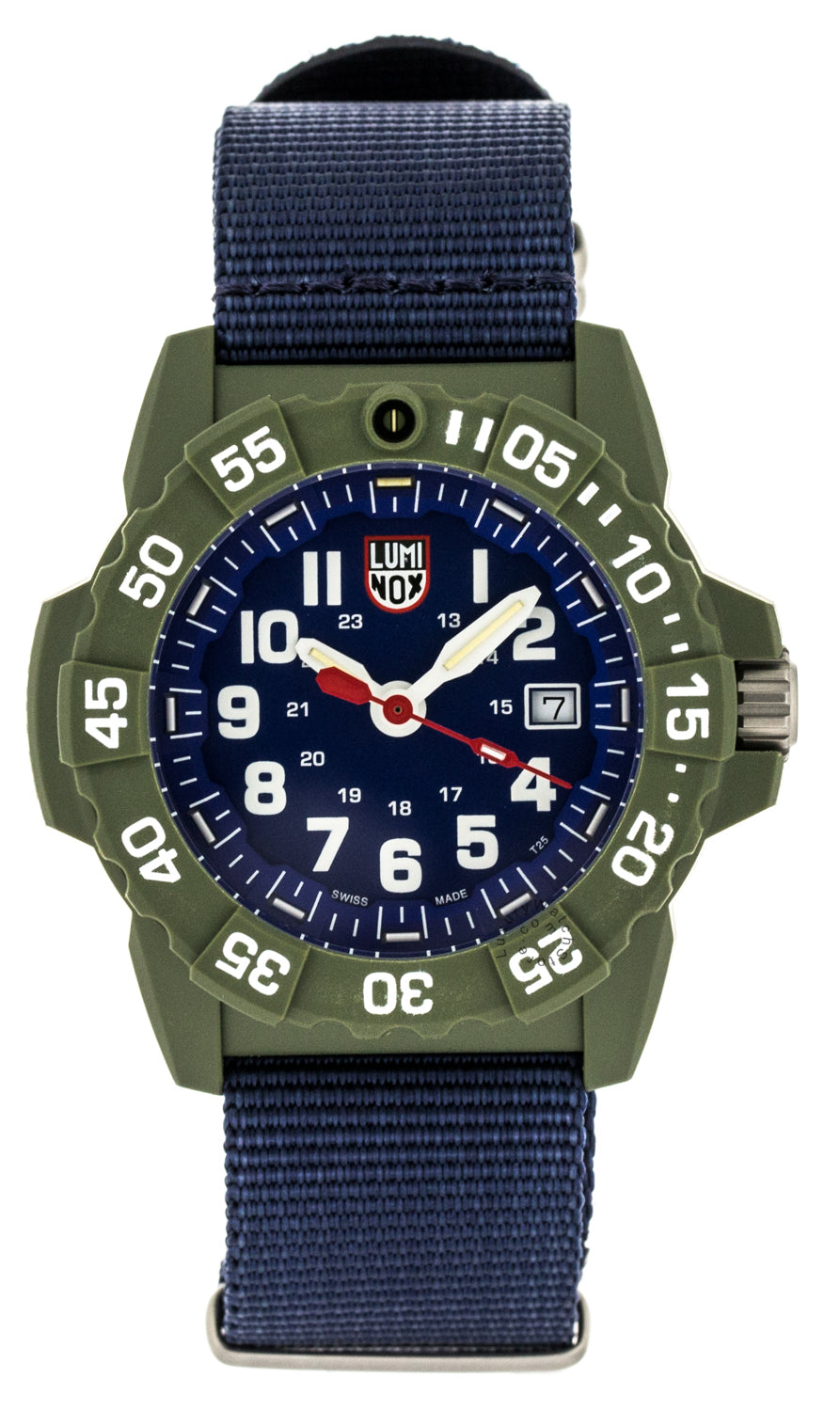 Luminox Navy SEAL 45mm Rotating Bezel Blu Canvas Band Watch XS.3503.ND