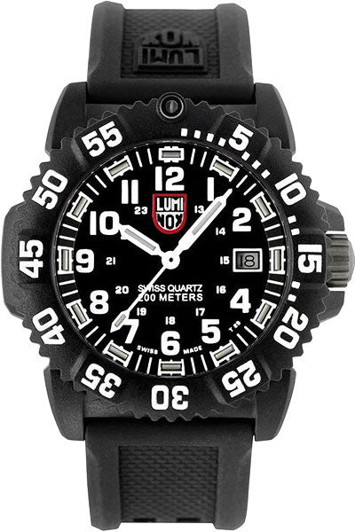 Luminox 7051 Sea Colormark Black Dial 7050 Series Men's Rubber Watch