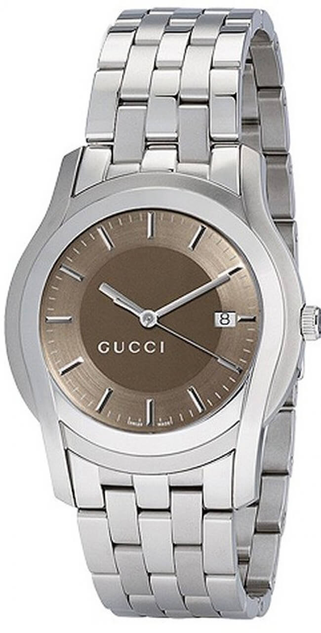 Gucci YA055215 G-Watch Brown Dial Men's Watch