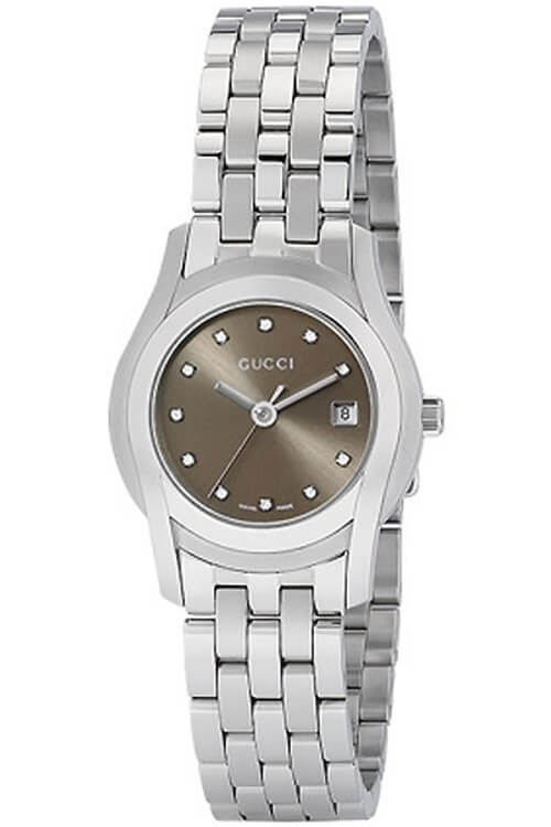 Gucci YA055523 G-Class Women's Brown Diamond Dial Steel Watch