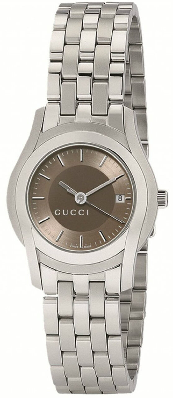 Gucci YA055524 G-Class Women's Brown Dial 27mm Steel Dress Watch