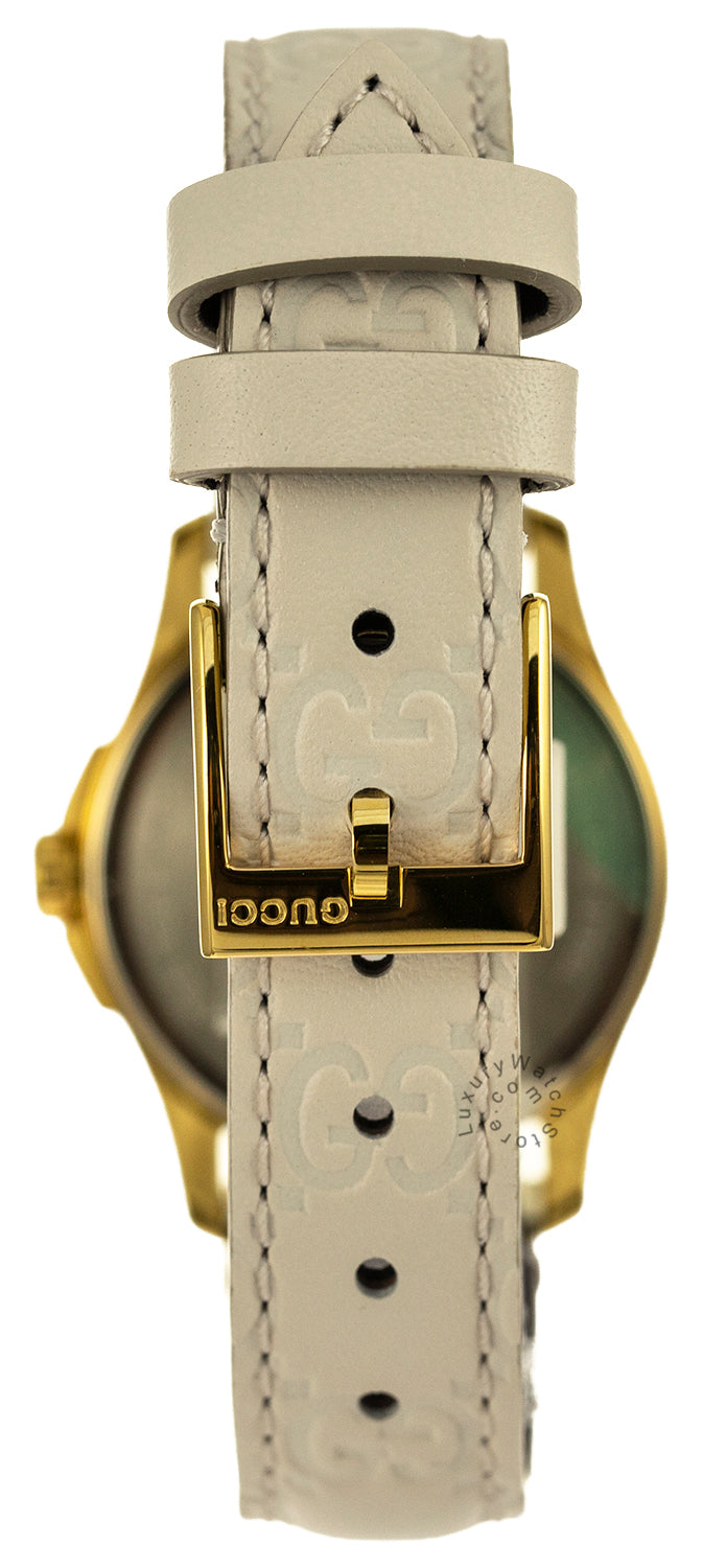 Gucci G-Timeless 27MM Beige Dial Gold PVD Case Women's Watch YA126580
