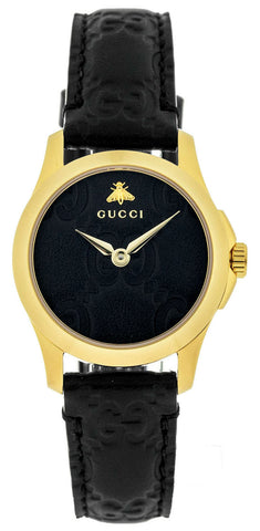Gucci Womens Black Leather Watch | YA126581