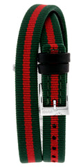 Gucci G-Frame Red and Green Dial Nylon Strap Watch YA147503