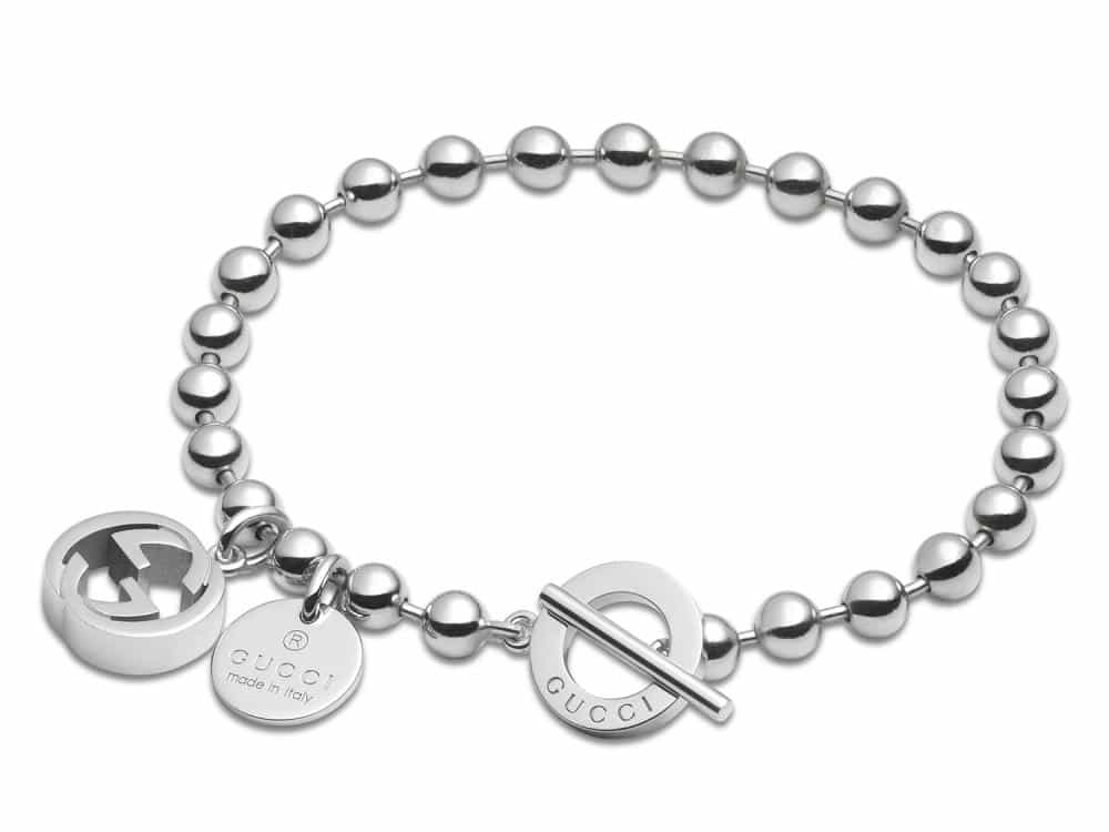 Gucci Boule Chain and Charms Sterling Silver Bracelet YBA390954001
