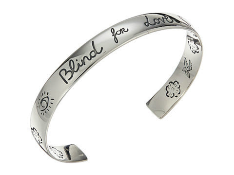 Gucci Blind for Love Silver Cuff Bracelet YBA454287001 YBA454287001017