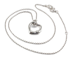 Gucci Bamboo Motif Heart Pendant Chain Silver RP Necklace YBB393395001