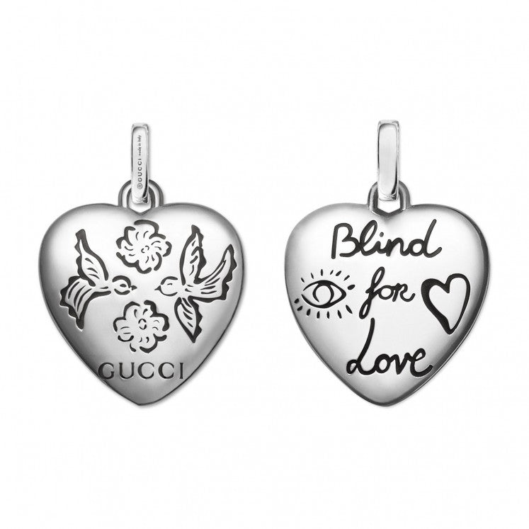 Gucci Blind For Love Heart 925 Necklace YBB455542001 | YBB45554200100U