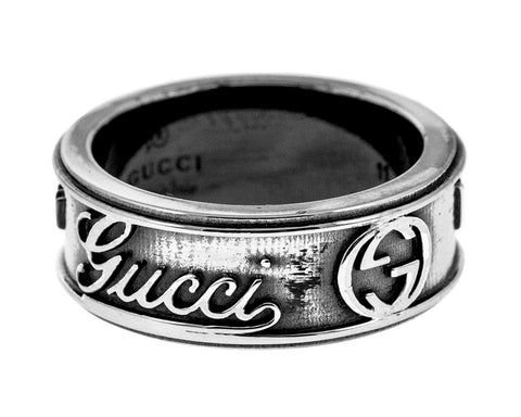 Gucci Craft Aging Finish 925 Silver Ring YBC310441001 YBC310441001011