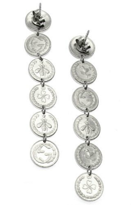 Gucci Coin RP 925 Silver Earrings YBD433487001 | YBD43348700100U