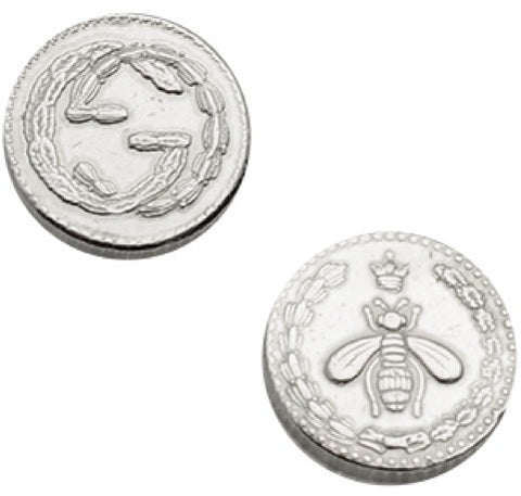 Gucci Coin RP 925 Silver Stud Earrings YBD433496001 YBD43349600100U