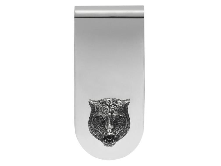 Gucci Feline Head Motifs Sterling Silver 925 Money Clip YBF456905001