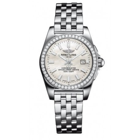 Breitling Galactic 29 MOP Dial Diamonds Women Watch A7234853/A784/791A