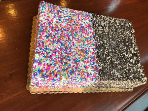 1/4 Sheet Sprinkle Crunch Cake