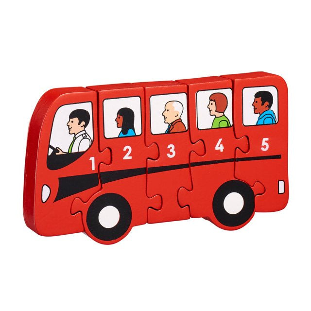 Red Bus 1-5 Jigsaw