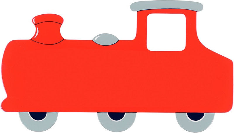 Small Red Train Letter Plaque